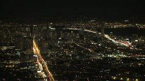 San francisco night traffic car timelapse stock video