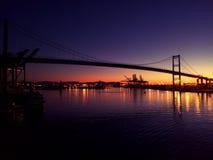 San Francisco at night, USA. Bridge sunset sunrise Stock Image