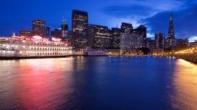 San Francisco at night. Night view from pier Royalty Free Stock Photos