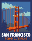 San francisco. Nillustrations logo golden gate city of san franciscon vector illustration