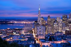 San Francisco no crepúsculo Foto de Stock