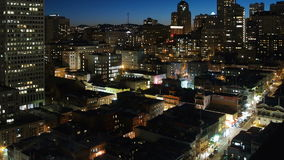 San Francisco Nob Hill Night. Time lapse with zoom out stock video footage