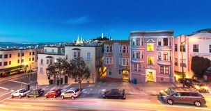 San Francisco North Beach Architecture stock footage