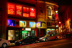San Francisco - North Beach at Night Stock Photo