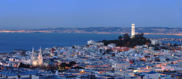 San Francisco - North Beach Panorama Stock Images