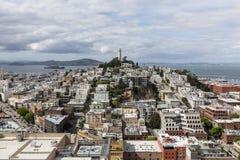 San Francisco North Beach und Coit-Turm-Nachbarschaften Lizenzfreies Stockbild
