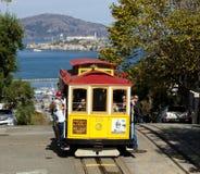 SAN FRANCISCO - NOVEMBER 2012: Der Drahtseilbahnförderwagen Lizenzfreies Stockbild