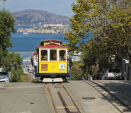 SAN FRANCISCO - The Cable car tram Royalty Free Stock Images