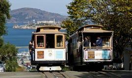SAN FRANCISCO - NOVEMBRE 2012: Il calibratore per allineamento della cabina di funivia Immagine Stock