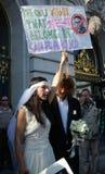 San Francisco Nude Wedding royalty-vrije stock foto's