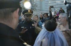San Francisco Nude Wedding stock afbeelding