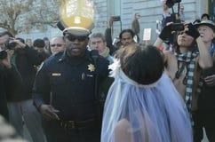 San Francisco Nude Wedding fotografía de archivo libre de regalías