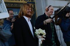 San Francisco Nude Wedding royalty-vrije stock afbeeldingen
