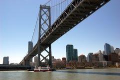San Francisco-Oakland Bay Bridge, California. Close-up of the San Francisco-Oakland Bay Bridge Royalty Free Stock Photos