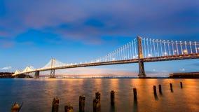 San Francisco-Oakland Bay Bridge at sunset Royalty Free Stock Image