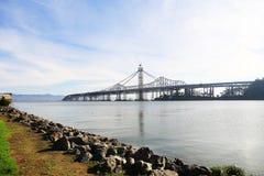 San Francisco Oakland bay bridge. A view of San Francisco Oakland bay bridge from Treasure Island Royalty Free Stock Photo