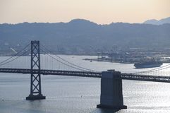 San Francisco - Oakland Bridge Stock Photography