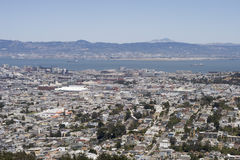 San Francisco and Oakland from the Twin Peaks Stock Photography