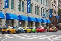 SAN FRANCISCO - OCTOBER 17: Colorful taxis on October 17, 2015 in San Francisco, USA Stock Photos