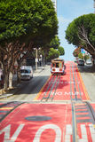 SAN FRANCISCO - OCTOBER 17: Famous cable car October 17, 2015 in San Francisco, USA Royalty Free Stock Photography