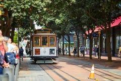 SAN FRANCISCO - OCTOBER 17: Famous cable car October 17, 2015 in San Francisco, USA Royalty Free Stock Photos