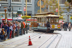 SAN FRANCISCO - OCTOBER 17: Famous cable car October 17, 2015 in San Francisco, USA Stock Images