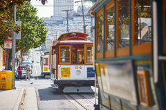 SAN FRANCISCO - OCTOBER 17: Famous cable cars October 17, 2015 in San Francisco, USA Royalty Free Stock Image