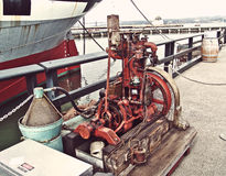 San Francisco, old gas engine for motor boat Royalty Free Stock Image