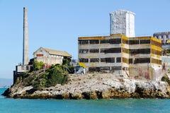 San Francisco Opinión sobre la prisión Alcatraz Fondo de la isla de Alcatraz Imágenes de archivo libres de regalías