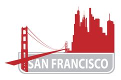 San Francisco outline Royalty Free Stock Image