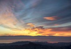 San Francisco på gryning Fotografering för Bildbyråer