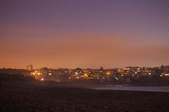 San Francisco på natten - sikt från bagarestranden Fotografering för Bildbyråer