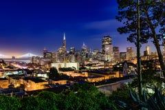 San Francisco półmroku linia horyzontu Fotografia Royalty Free