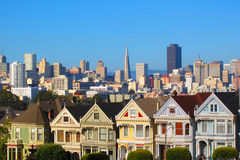 San Francisco - The painted ladies Stock Images