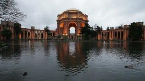 San Francisco Palace de bellas arte almacen de metraje de vídeo