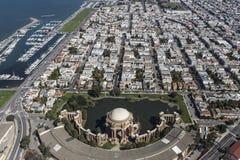San Francisco Palace of Fine Arts Aerial Royalty Free Stock Photos