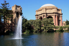 San Francisco, Palace of Fine Arts III. Palace of Fine arts and lake in San Francisco USA Royalty Free Stock Images