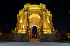 San Francisco Palace of FIne Arts at Night Royalty Free Stock Photography