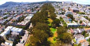San Francisco Pan Handle de cima de Fotografia de Stock Royalty Free