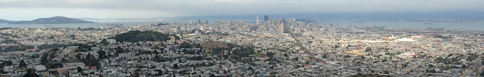 San Francisco. Panorama. Royalty Free Stock Images