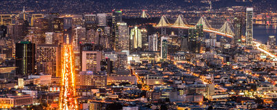 San Francisco Panorama Immagini Stock Libere da Diritti