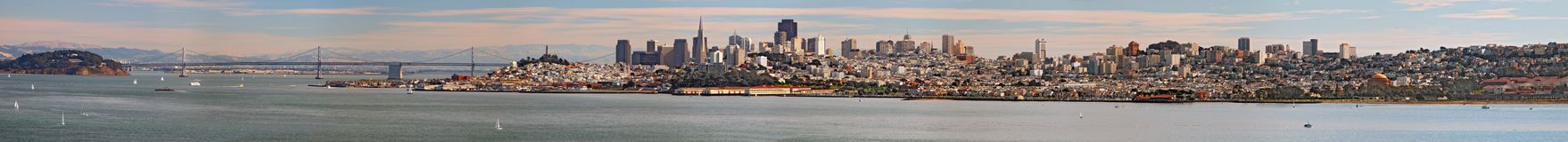 San Francisco panorama. San Francisco panoramic view stock photography