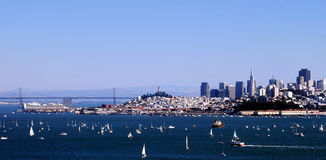 San Francisco Panorama. From the Bay Bridge to Downtown Royalty Free Stock Photos