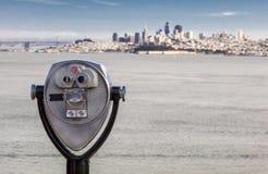 San Francisco Panorama and the Binocular Stock Images