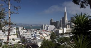 San Francisco Panoramic Downtown View stock footage