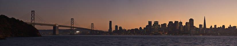 San Francisco panoramic photo. San Francisco panorama from the Treasure Island Stock Photography