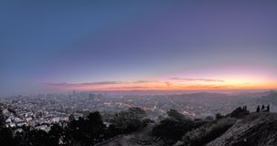 San Francisco Panoramic Sunrise sobre do centro video estoque