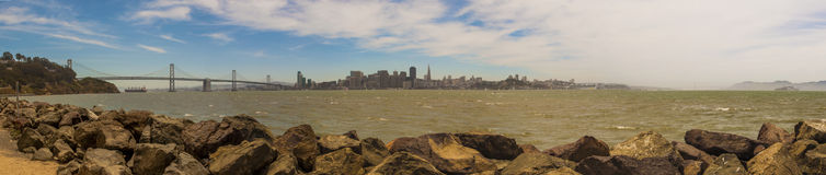 San Francisco Panoramic. A view of the San Francisco Skyline Royalty Free Stock Photography