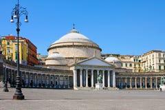 San Francisco Paola, Italia, Nápoles Fotos de archivo