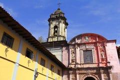 San Francisco parish, Uruapan IV. San Francisco parish located in Uruapan city, in the mexican state of michoacan stock image